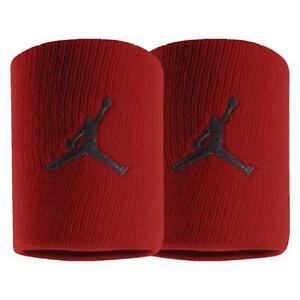 NEW NIKE HOH AIR MICHAEL JORDAN AJ FLIGHT RED WRIST sweat band BULLS JUMPMAN