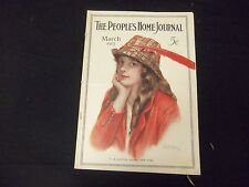 1915 MARCH PEOPLE'S HOME JOURNAL MAGAZINE - GREAT ILLUSTRATIONS & ADS - ST 1804