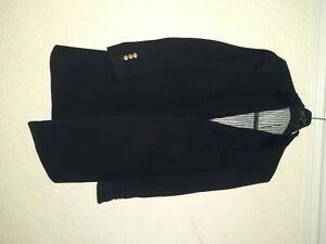 THOM BROWNE cashmere blue military gold button coat Size 2