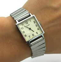 Soviet Square Vintage Classic Watch TESTED Mechanical Collectible LUCH Bracelet