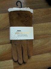Ladies luxury suede gloves warm soft lining Medium Totes BNWT
