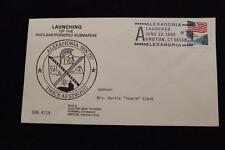 DRW NAVAL COVER #119A LAUNCHING USS ALEXANDRIA (SSN-757) 1990 FANCY CANCEL
