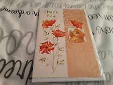 Thankyou Greeting Card BNIP - bear, flowers