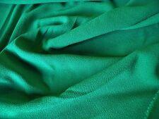 ITALIAN STRETCH CREPE-EMERALD GREEN- DRESS FABRIC-FREE P+P