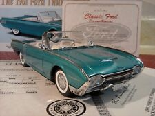 DANBURY MINT 1961 FORD THUNDERBIRD..1:24..NIB..UNDISPLAYED..RARE..NEW..PAPERS