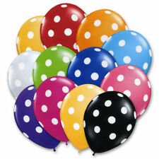 15 Polka Dot Spot Spotty Style Party Supplies Printed Latex Birthday  Balloons