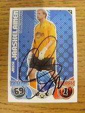 """2010/2011 AUTOGRAFO: Bolton Wanderers-jaaskelainen, JUSSI [firmato a mano """"Topps"""