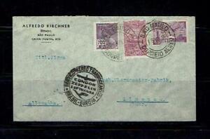 Brasilien 1935 Brief nach Deutschland - Condor Zeppelin Lufthansa - befördert