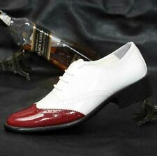 Brogue Mens Lace Up Wing Tip Patent Leather Oxfords Dress Formal Wedding Shoes