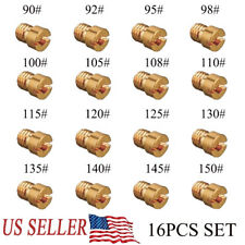 16Pcs Carburetor Main Jet Kit for PWK Keihin OKO CVK 90,92,95,100,105,108-150