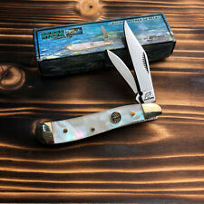 Frost Cutlery Mother of Pearl Stainless Steel Peanut Folding Pocket Knife 107MOP