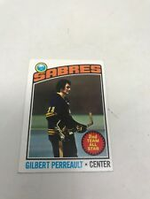 1976-1977-TOPPS HOCKEY CARD #180 GILBERT PERREAULT-2ND TEAM ALL STAR-SABRES