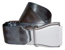 Seatbelt Gürtel mit Orginal Schnalle silber grau Belt Einheitsgröße Nylon