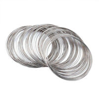 100 Loops Steel Memory Wires Round for Wrapping Bracelets 24-Gauge Platinum 65mm