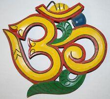 New Fair Trade Small Om Wall Plaque 15cm - Hippy Hippie Ethical Nepal Boho Aum