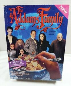 Addams Family movie portrait Ralston Cereal Box empty folded
