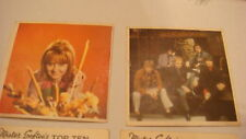 LULU No7 & MANFRED MANN No5 MUSIC CARDS BY MISTER SOFTEE TOP TEN ISSUE G-    VG