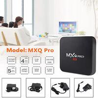 2020 Smart TV Box MXQ Pro 4K UHD 2.4GHz Wifi Android 7.1 Quad Core 3D Player AU