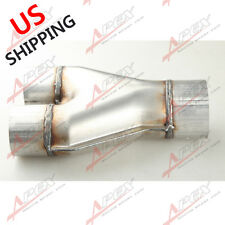 "Universal Custom Exhaust Y-Pipe 2.5"" Dual 3"" Single Aluminized Steel US"