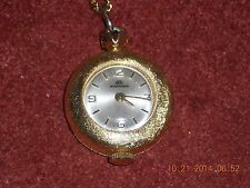 BUCHERER LADIES WATCH VINTAGE SWISS NECKLACE PENDANT 17 JEWELS BEAUTIFUL
