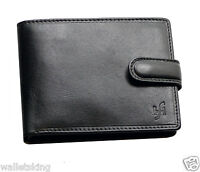 STARHIDE MENS GENTS LUXURY REAL LEATHER WALLET PURSE WITH ID & COIN POCKET 1213