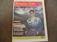 Motoring News 25 May 1994 Tapio Laukkanen Jos Vestappen Dallara F3 Indy 500