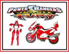 "Power Rangers Jungle Fury _ Red Ranger with ""Transforming"" Battle Bike"