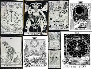 Tapestry Small Wonderful Tarot Card Design Cotton Fabric Poster Wall Hanging