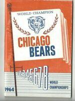 1964 Chicago Bears Football Media Guide, Bill George Doug Atkins Mike Ditka GOOD