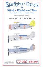 Starfighter Decals 1/72 CURTISS SBC-4 HELLDIVER Dive Bomber Part 3