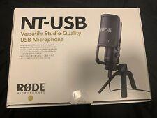Rode NTUSB Studioqualität USB-Kondensatormikrofon +Tischstativ +Popschutz +OVP
