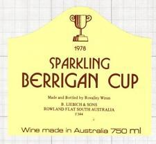 AUSTRALIA Liebich & Son Rowland Sparkling 1978 Berggidan Cup wine label C1701