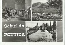 80538 SALUTI DA PONTIDA INTERESSANTE CARTOLINA BERGAMO ASS ARTIGLIERI D' ITALIA
