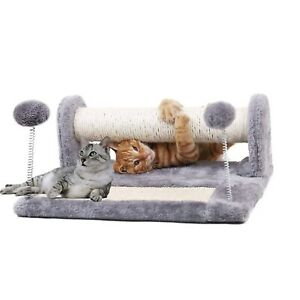 DURABLE PET CAT KITTEN CAT SCRATCHING POST AND FOLDABLE SCRATCH BOARD FULL SISAL