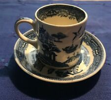 Wedgwood OLD WILLOW BLUE Demitasse Cup & Saucer