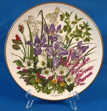 Wedgwood Franklin Porcelain Flowers of the Year January Collectible Plate