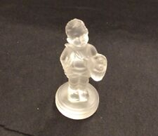 "Goebel Hummel Boy w/Basket 3"" Frosted Crystal Glass Figurine"