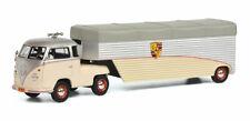 1:43 Schuco VW T1 race transporter Porsche creme/silver/grey