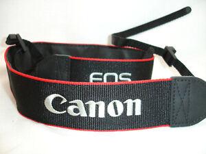 """CANON EOS CAMERA NECK STRAP 1.5"""" for T5i T3i 70D T4i 7D 5D 6D Mark ... GUC"""