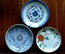 3 Assiettes  Porcelaine de Chine  fleurs XIXe 3 old plates china chinese plate