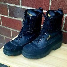 LaCrosse Boots 29921  Black Waterproof Leather Steel Toe & Midsole Sz 10