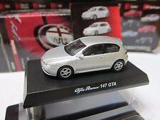 Kyosho - Alfa Romeo Collection 2 - 147 GTA - Silver - Scale 1/64 - Mini Toy Car