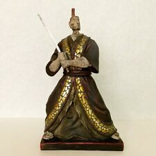 Japanese Samurai Warrior Statue made with Resin and inlay of Glass Chips