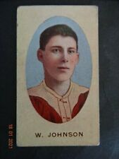 "WALLY JOHNSON- ( FITZROY )-1909/10  Sniders & Abrahams Series ""E"" - V/GD to VGD+"