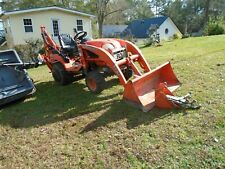 kubota BX 25 loadeer and   forksand 3 point hitchtractor 4x4 used