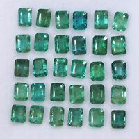 30 Pcs Colombian Emerald Natural 3.8mm-4.3mm Octagon Cut Gemstones Wholesale Lot
