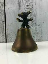Vintage Walter Bosse Dancing Bear Bell Austria Mid Century Brass Modernist