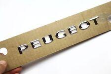 1 x Original Emblem Badge VERCHROMT Peugeot 107 Partner 207 307 usw