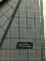 3.5 Metres Grey Check 100% Wool Suit Fabric. Tropical Amadeus by Dormeuil.