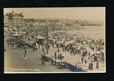 Dorset WEYMOUTH Bay Sea Front nice busy scenec1920s RP PPC